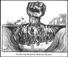 workers united into a fist WSP