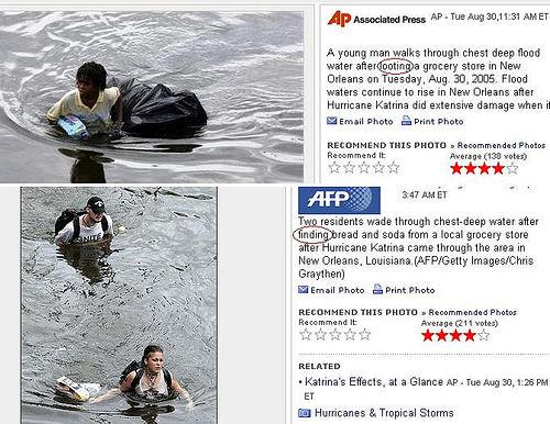 looting katrina What is Racism