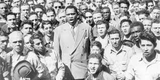 Paul Rbeson with Workers